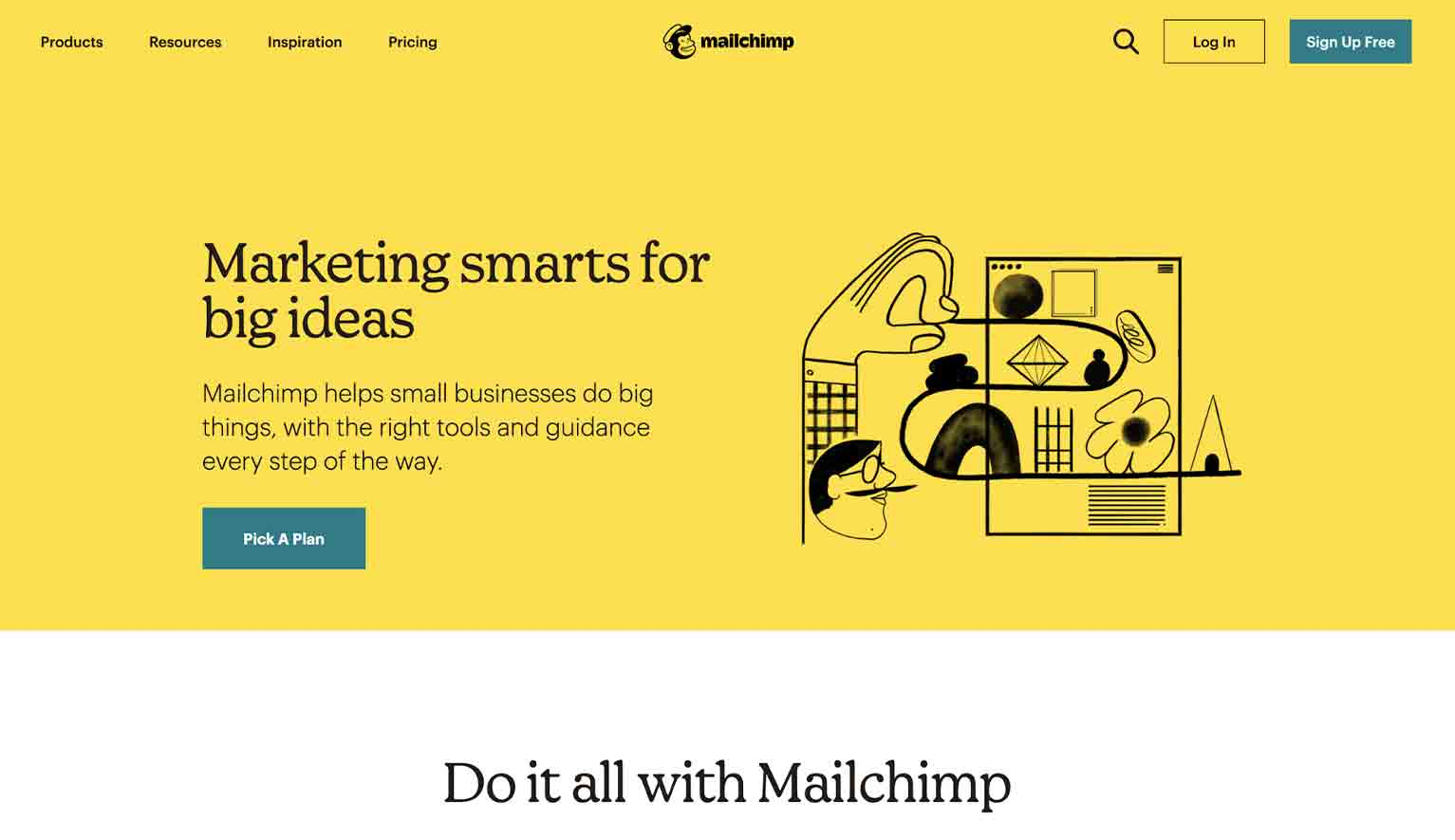 Website Redesign Example: Mailchimp No. 2