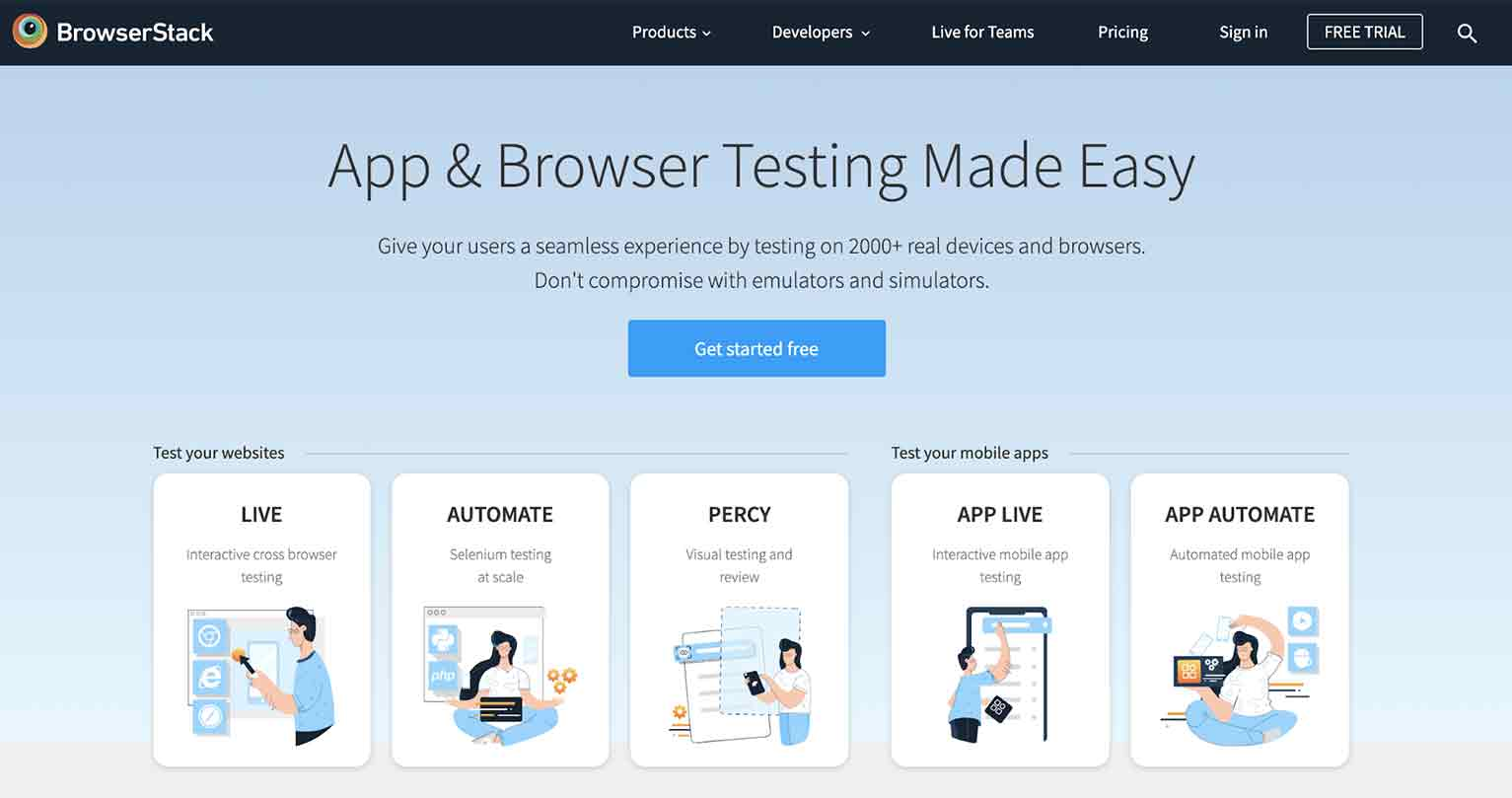 Website Redesign Testing: BrowserStack
