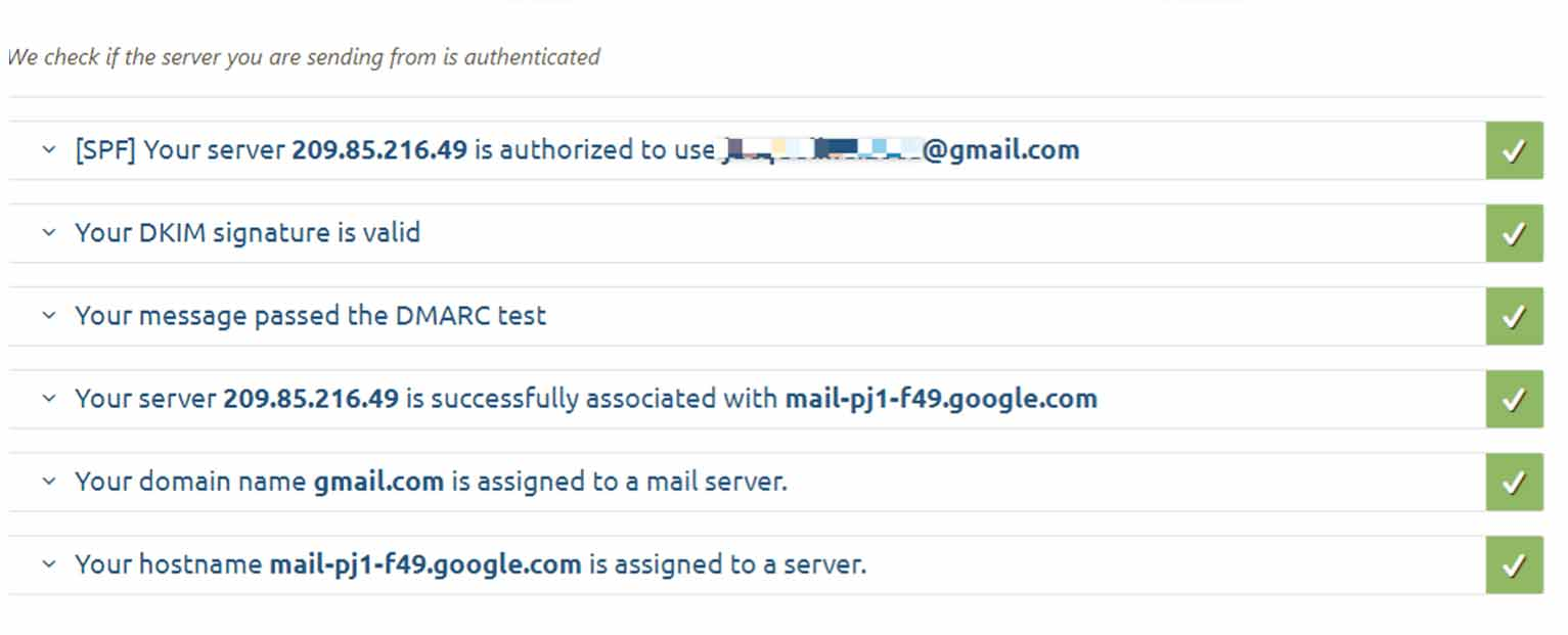 If you use the mail-tester tool mentioned above, you can get information about any authentication failure along with suggestions to fix them.