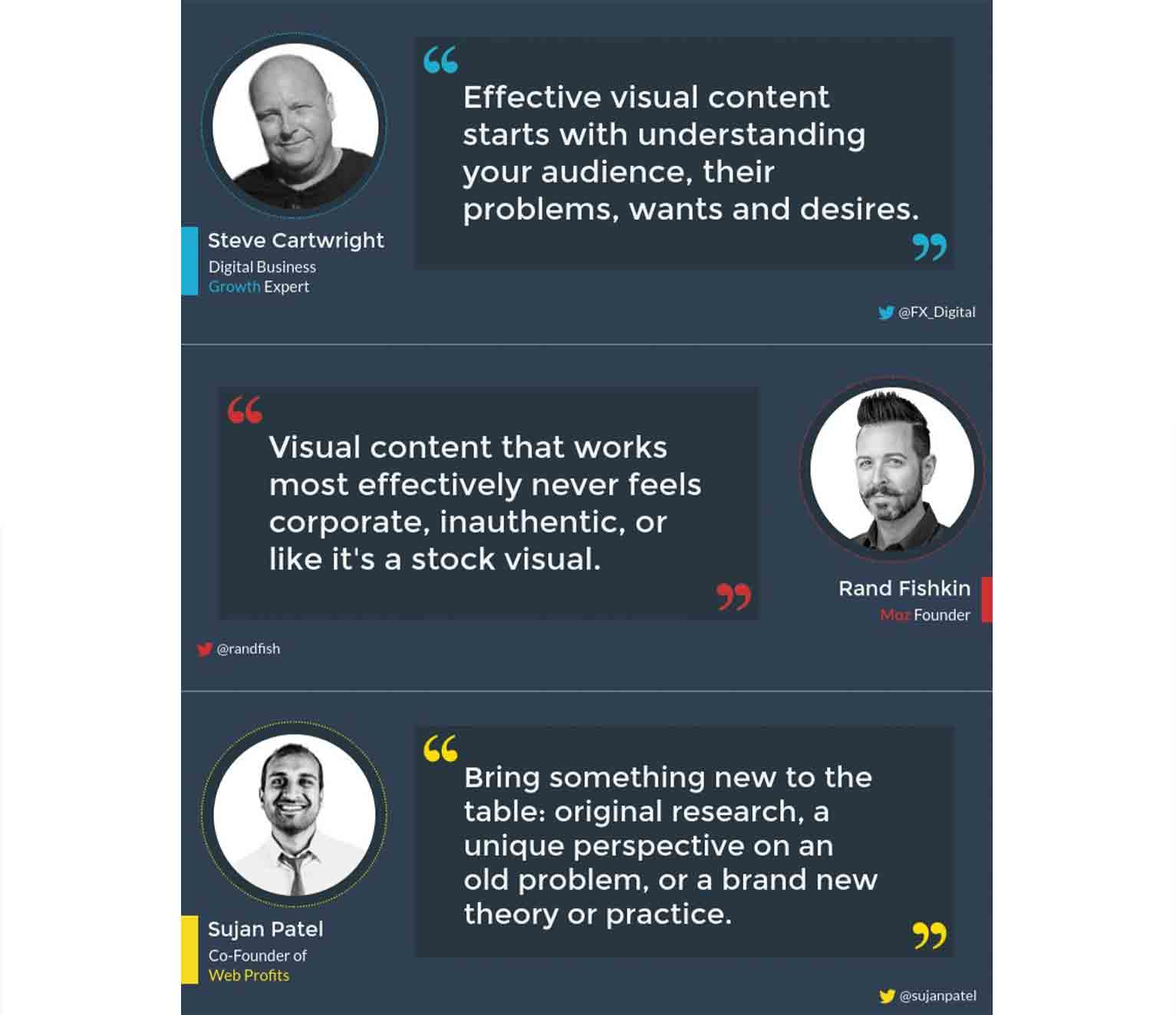 This infographic from Visme summarizes expert opinions from a round-up post to make the content more shareable.