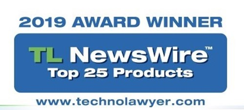 An award graphic for the 2019 Award Winner of TL NewsWire top 25 products.