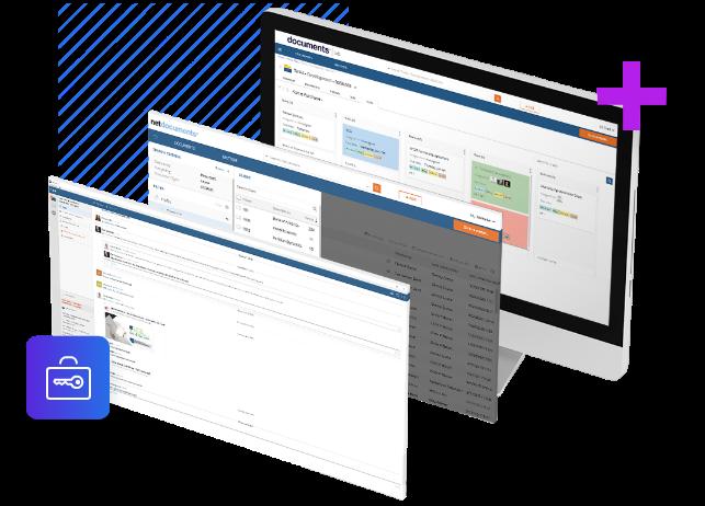 Uma tela do NetDocuments Document Management System.