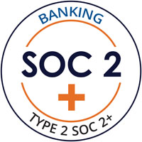Compliance Certification for AICPA SOC Type 2 Soc 2+ for banking.