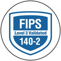 Compliance Certification for FIPS level 3 validated 140-2.