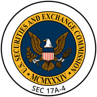 United States Securities and Exchange Commission Sec 17A-4 Certified
