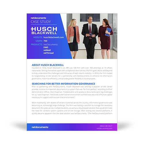 Husch Blackwell Case Study Graphic