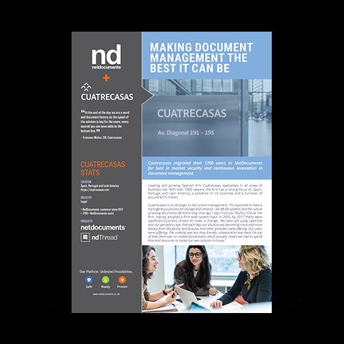 Cuatrecasas Case Study Graphic