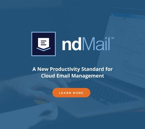 Ad graphic for NetDocuments ndMail.