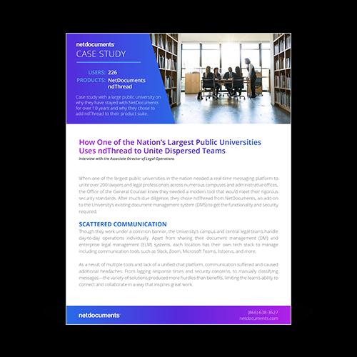 Large Public University Case Study Graphic