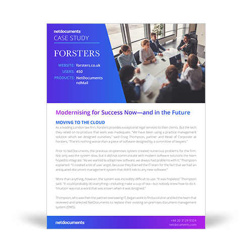 Forsters Case Study Graphic