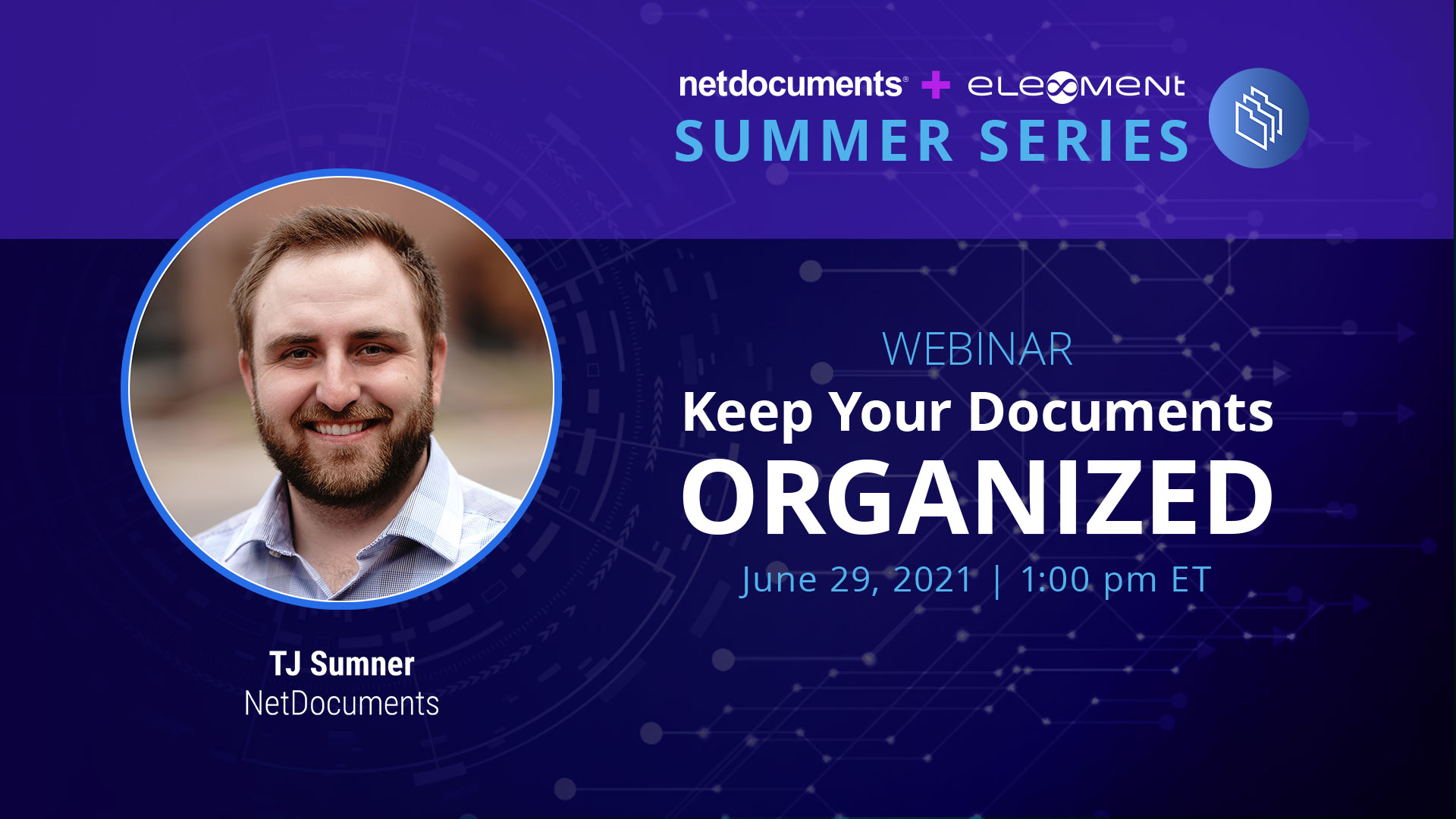 Graphic for webinar series.