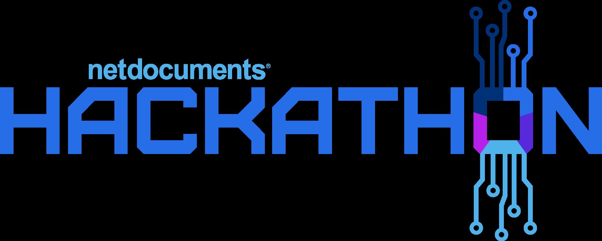 NetDocuments 2021 Hackathon Logo.