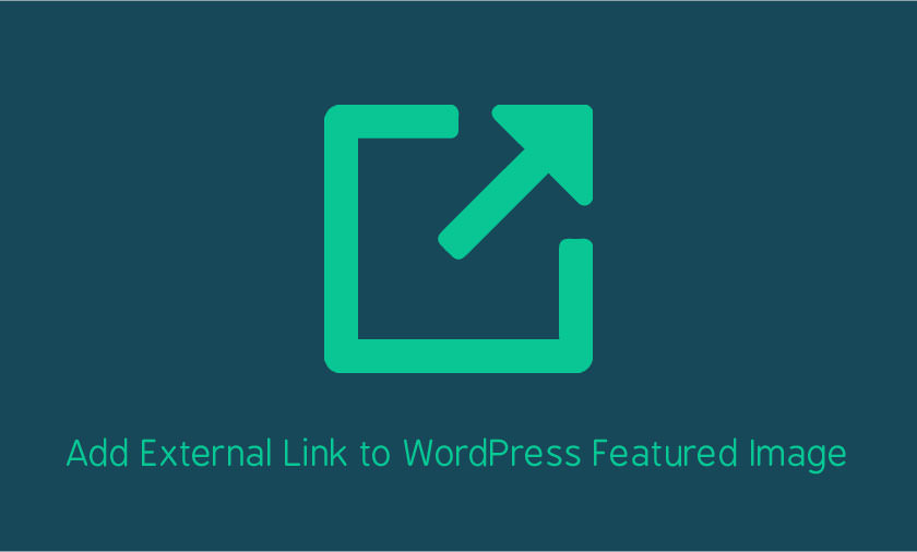 WordPress add link to Featured Image