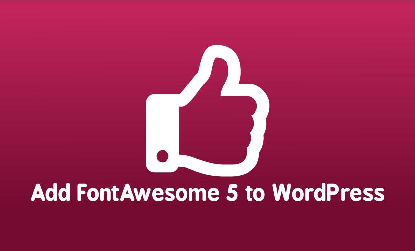 Add FontAwesome to WordPress