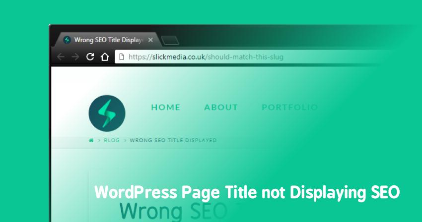 WordPress Page Title not Displaying SEO