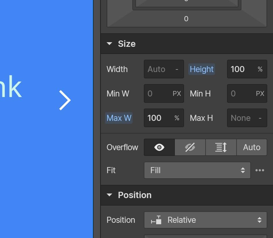 Webflow Responsive Slider Slider Size Settings