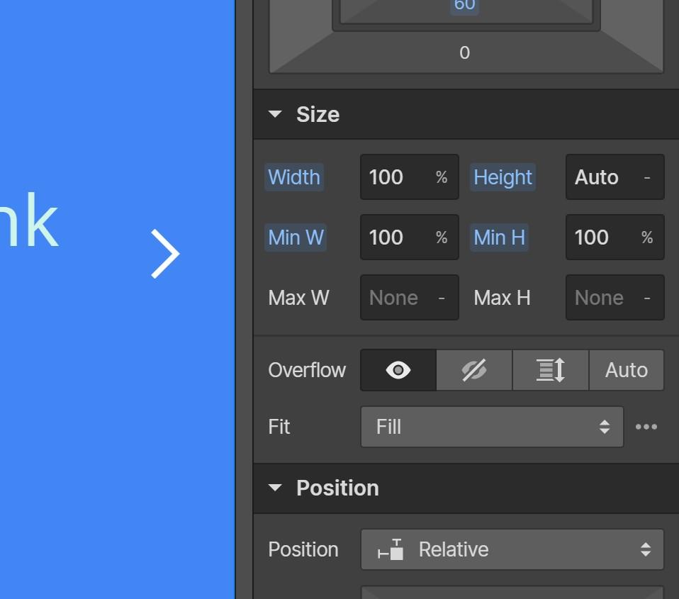 Webflow Responsive Slider Slide Size Settings