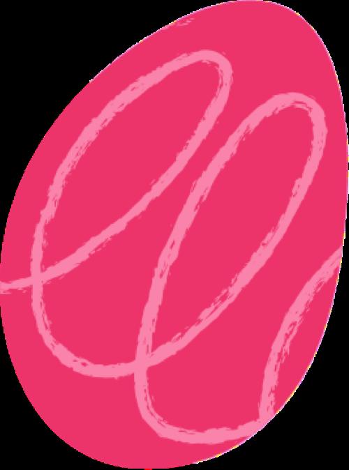 Freeda white and pink blob