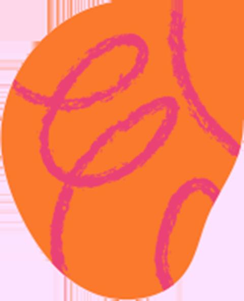 Freeda orange blob