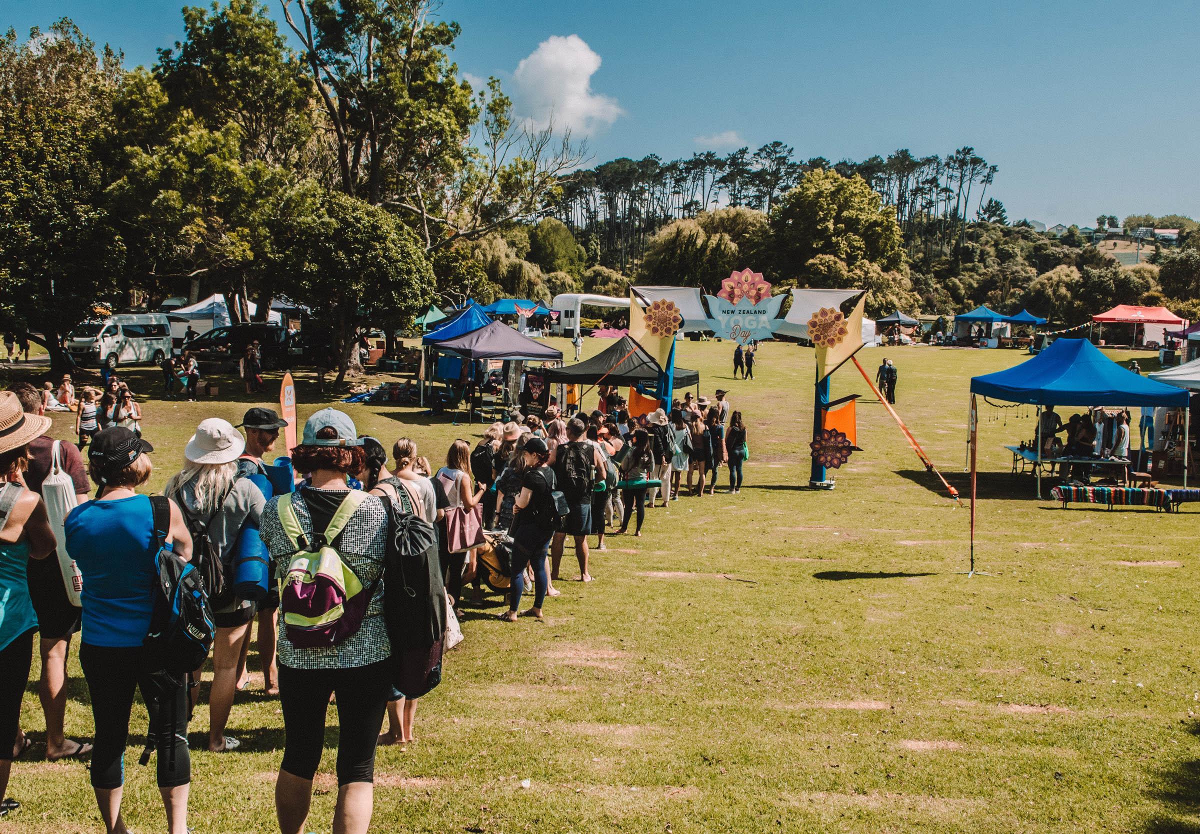NZ Yoga day - festival photo