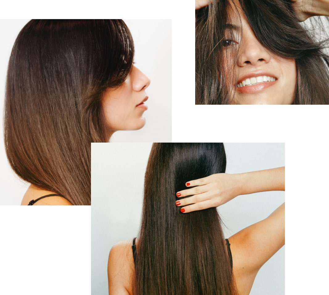brune cheveux lisse