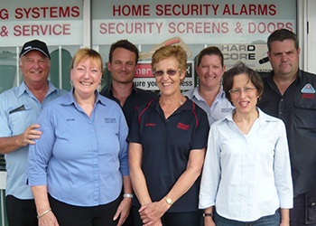 Lee, Helen, Paul, Frances, Nadine, Anne-Claire & Craig from Westlock Security Systems