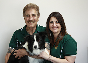 Kevin, Lisa and Luna the dog from The Roof & Wall Doctor - Metal Roofing & Guttering Services