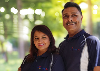 Sanjay and Armina from Synergy Air Conditioning Services
