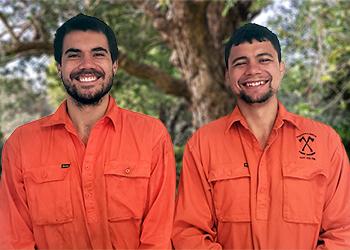 Vinnie and Michael Wiktora from Wiktora Bros Tree Works - Tree Services