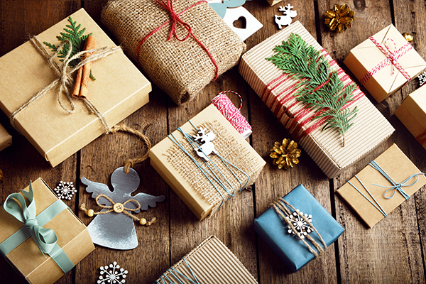 Collection of eco friendly christmas boxes