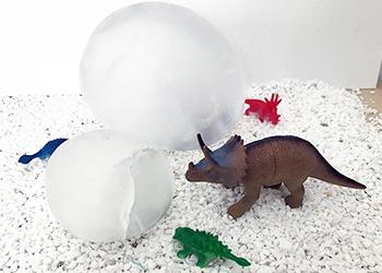 Home made frozen dinosaur egg