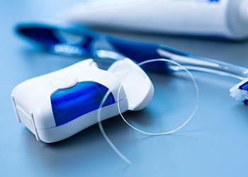 Packet of dental floss