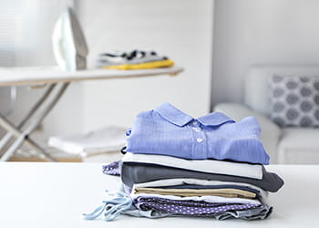 Pile of folded laundry