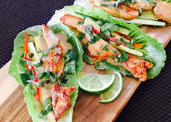 Satay Chicken Salad Cups