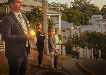 ANZAC day driveway dawn service