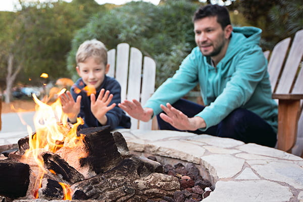 Time to toast some marshmallows around your outdoor fire pit