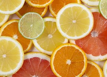 slices of orange, lemon, grapefruit and lime