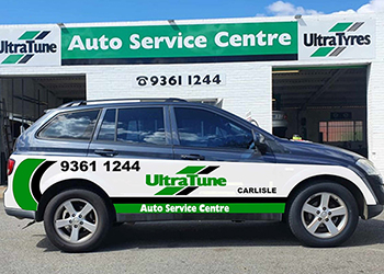 Ultra Tune Carlise workshop and vehicle - Automotive Servicing & Repairs