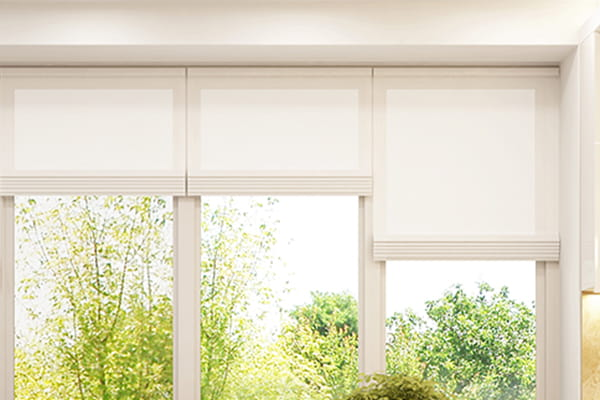 Window with Roman blinds