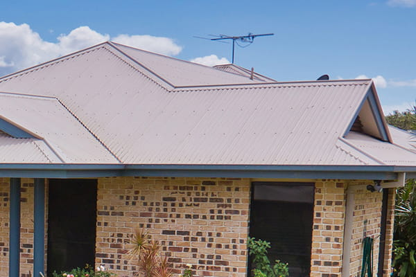 House with metal roof