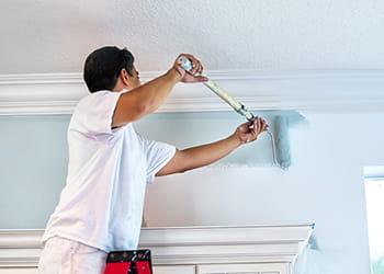 Painter up a ladder