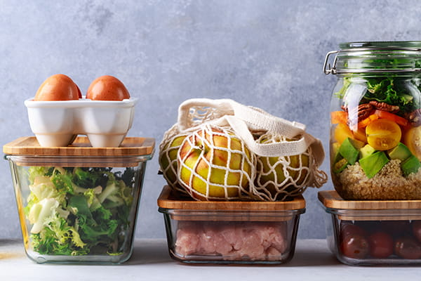 Fresh food glass containers