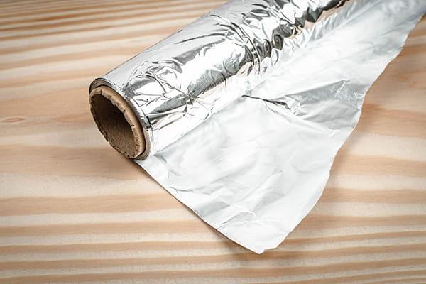 A roll of aluminium foil