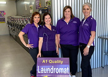 The team at A1 Quality Laundromat