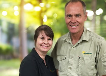 Odette and Kirk from Aussie Outdoor Wanneroo - Outdoor Blinds & Shutters