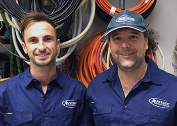 Daniel and team from Austlec Electrical Services