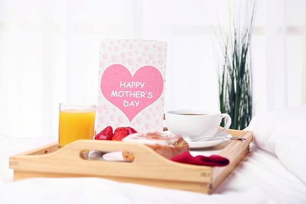 Mother's Day breakfast in bed tray
