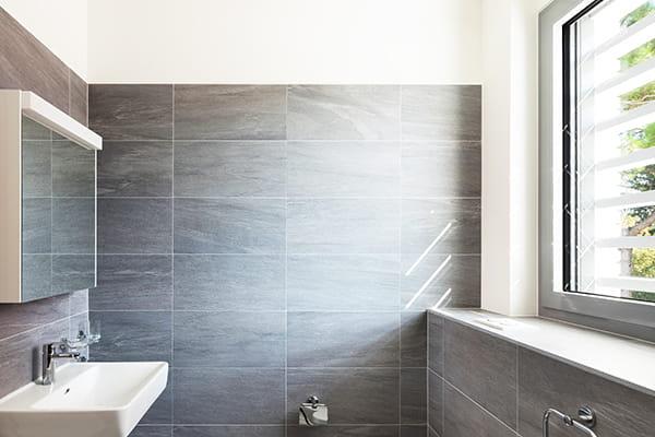 Modern grey bathroom tiles