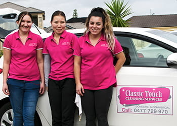 The Classic Touch Cleaning Services team