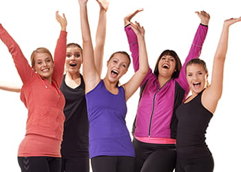 Group of women looking happy and healthy - Curves Clarkson - Health & Fitness
